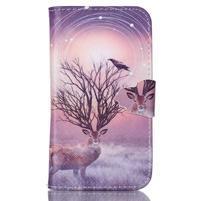 Emotive peněženkové pouzdro na Samsung Galaxy Core Prime - mystický jelen