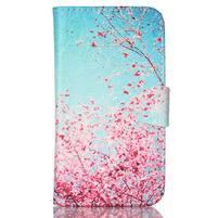 Emotive peněženkové pouzdro na Samsung Galaxy Core Prime - kvetoucí švestka