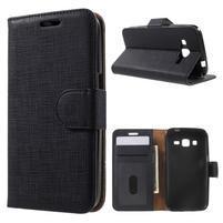 Clothy peněženkové pouzdro na Samsung Galaxy Core Prime - černé