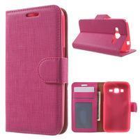 Clothy peněženkové pouzdro na Samsung Galaxy Core Prime - rose