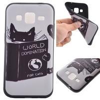 Hardy gelový obal na mobil Samsung Galaxy Core Prime - kočička čte
