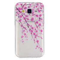 Transparentní gelový obal na Samsung Galaxy Core Prime - kvetoucí švestka