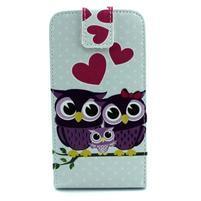 Flipové pouzdro na mobil Samsung Galaxy Core Prime - zamilované sovy