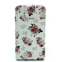 Flipové pouzdro na mobil Samsung Galaxy Core Prime - květiny