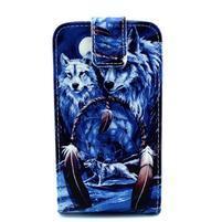 Flipové pouzdro na mobil Samsung Galaxy Core Prime - magičtí vlci