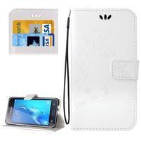 Magicfly PU kožené pouzdro na mobil Samsung Galaxy J1 (2016) - bílé