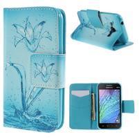 Zapínací pouzdro pro Samsung Galaxy J1 - vodní květina