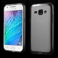 Matný gelový obal na Samsung Galaxy J1 - bílý