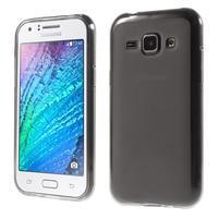 Matný gelový obal na Samsung Galaxy J1 - šedý