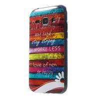 Gelový kryt na Samsung Galaxy J1 - barvy dřeva