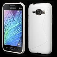 Bílý gelový s-line obal Samsung Galaxy J1