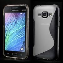 Transparentní gelový s-line obal Samsung Galaxy J1
