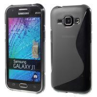 Šedý gelový s-line obal Samsung Galaxy J1