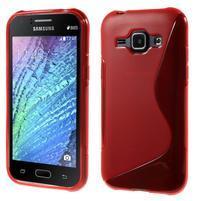 Červený gelový s-line obal Samsung Galaxy J1