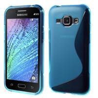 Modrý gelový s-line obal Samsung Galaxy J1