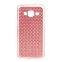Diamond gelový obal na mobil Samsung Galaxy J3 (2016) - růžový