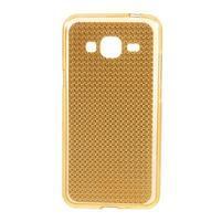Diamond gelový obal na mobil Samsung Galaxy J3 (2016) - zlatý