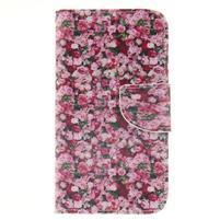 Standy peněženkové pouzdro na Samsung Galaxy J5 - růže