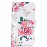 Pictu peněženkové pouzdro na Samsung Galaxy J5 - květiny