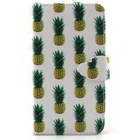 Knížkové pouzdro na mobil Samsung Galaxy J5 - ananasy