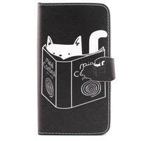 Knížkové pouzdro na mobil Samsung Galaxy J5 - kočka čte