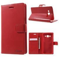 Mercury PU kožené pouzdro na mobil Samsung Galaxy J5 - červené