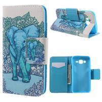 Dairy peněženkové pouzdro na Samsung Galaxy J5 - modrý slon