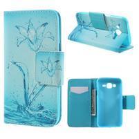 Dairy peněženkové pouzdro na Samsung Galaxy J5 - vodní květ