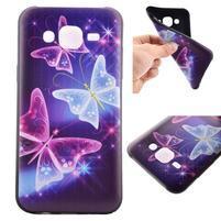 Jelly gelový obal na mobil Samsung Galaxy J5 - kouzelní motýlci