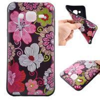 Jelly gelový obal na mobil Samsung Galaxy J5 - koláž květin