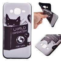 Jelly gelový obal na mobil Samsung Galaxy J5 - kočička čte