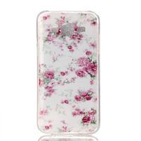 Softy gelový obal na mobil Samsung Galaxy J5 - květiny