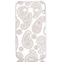 Ultratenký průhledný obal na Samsung Galaxy J5 - floral