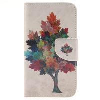 Standy peněženkové pouzdro na Samsung Galaxy J5 - barevný strom