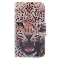 Standy peněženkové pouzdro na Samsung Galaxy J5 - leopard