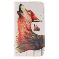 Standy peněženkové pouzdro na Samsung Galaxy J5 - lesní vlk