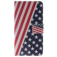 Style peněženkové pouzdro na Samsung Galaxy J5 (2016) - US vlajka