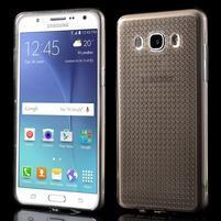 Diamonds gelový obal mobil na Samsung Galaxy J5 (2016) - šedý