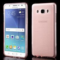 Diamonds gelový obal mobil na Samsung Galaxy J5 (2016) - růžový