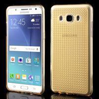 Diamonds gelový obal mobil na Samsung Galaxy J5 (2016) - zlatý