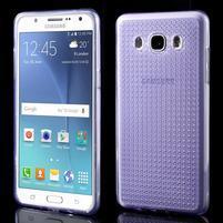 Diamonds gelový obal mobil na Samsung Galaxy J5 (2016) - fialový