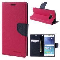 Diary PU kožené pouzdro na mobil Samsung Galaxy J5 (2016) - rose