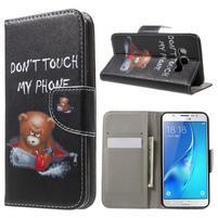 Nice peněženkové pouzdro pro Samsung Galaxy J5 (2016) - zlej méďa
