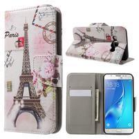 Nice peněženkové pouzdro pro Samsung Galaxy J5 (2016) - Eiffelova věž