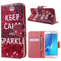 Nice peněženkové pouzdro pro Samsung Galaxy J5 (2016) - Keep Calm