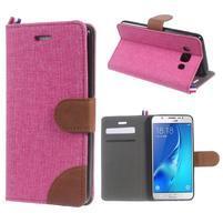 Denim peněženkové pouzdro na Samsung Galaxy J5 (2016) - rose