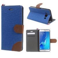 Denim peněženkové pouzdro na Samsung Galaxy J5 (2016) - modré