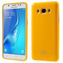 Newsets gelový obal na Samsung Galaxy J5 (2016) - žlutý
