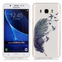 Průhledný obal na mobil Samsung Galaxy J5 (2016) - peříčko