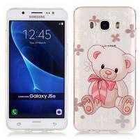 Průhledný obal na mobil Samsung Galaxy J5 (2016) - medvídek